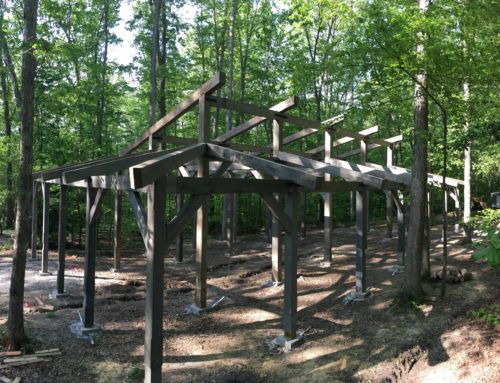 Timber Frame Pavilion for American Alpine Club.